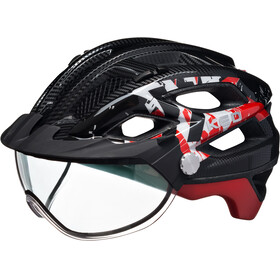 KED Covis - Casco de bicicleta - rojo/negro